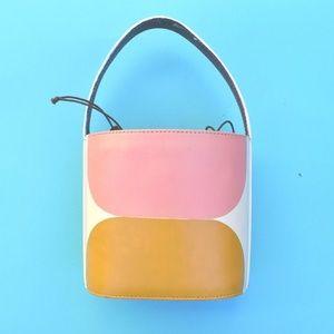 Handpainted minimal bucket bag purse